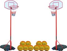 Set Easy Basket: 2 Basketkörbe + 10 Bälle