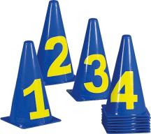 Markierkegel-Set mit Zahlen, 23 cm