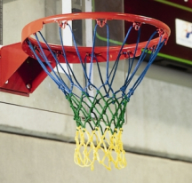Dreifarbiges Basketballnetz 4 mm