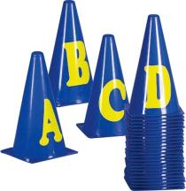 Markierkegel-Set mit Buchstaben, 23 cm