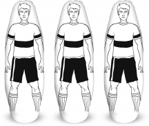 5 x Aufblasbarer Trainingsdummy, 175 cm
