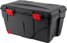 Materialbehälter aus durchsichtigem Kunststoff